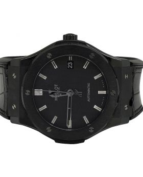 Mens Hublot Classic Fusion 45MM Black Ceramic Automatic Watch