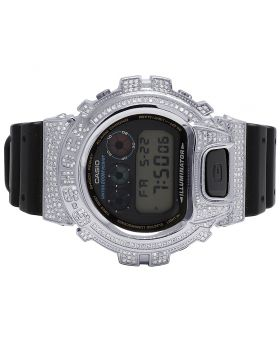 Mens Casio G Shock 6900 White Diamond Watch 3.0 Ct