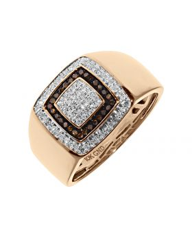 Mens Pinky Ring with Red Diamonds (0.33 ct)