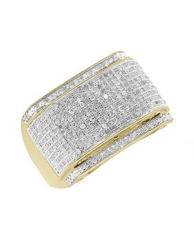 10k Mens Yellow Gold Diamond Fashion Pinky Ring (1.0 ct)
