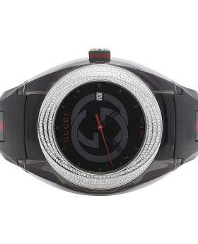 Mens Analog Gucci Sync Diamond Watch YA137101 (1.25 Ct)