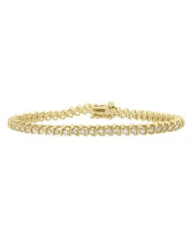 S Style Bracelet in 14k Yellow Gold (1.5 ct)