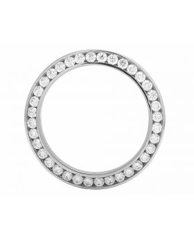 Stainless Steel Channel Set Diamond Bezel for 36 MM Rolex Datejust & President (4.0 Ct)