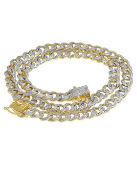 10K Yellow Gold Real Diamond Miami Cuban Necklace 9MM 5.5 CT 21""