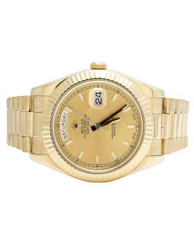 Rolex 18K Yellow Gold 41MM Day-Date II 218238 President Watch