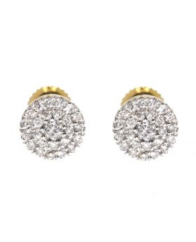 5mm Cluster Earrings in Yellow Gold (0.26 ct)