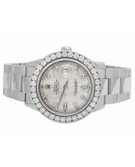 Rolex Datejust Oyster White MOP Dial 40MM Diamond Watch 5.5 Ct