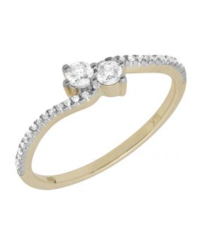 Ladies 14K Yellow Gold Forever Us Real Diamond Ring .25ct