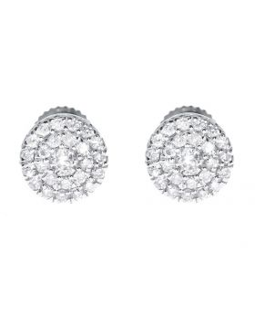 5mm Cluster Earrings in White Gold (0.26 ct)