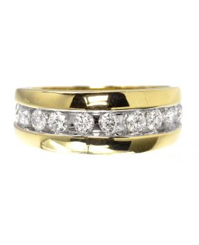 Mens Channel Set Band (1.0 ct)