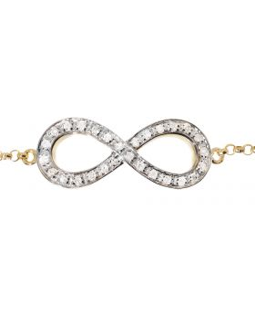 Infinity Bracelet in Yellow Gold (0.14 ct)