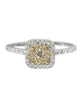 Yellow Diamond Engagement Ring (0.40 ct)