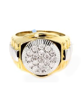 Mens Diamond Ring in 14K Two-Tone (1.0ct)