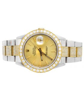 Rolex Datejust Two Tone Stainless Steel 16013 Diamond Watch (6 Ct)