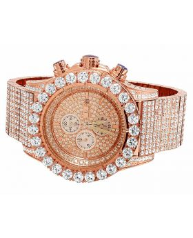 Jewelry Unlimited Simulated Diamond Watch BR-04