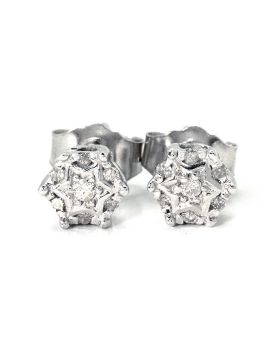 Round Cut Star Round 6 MM Diamond Studs  (0.09 Ct)