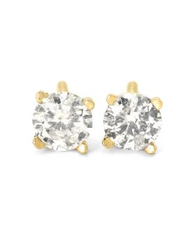 Round Cut Solitaire Stud Earrings (.50 Ct)