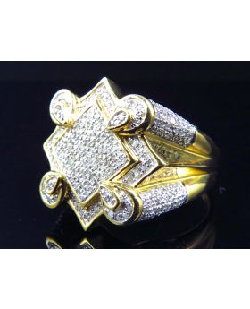 """The Claw"" Men's Diamond Pave Ring in 10k (1.25ct)"