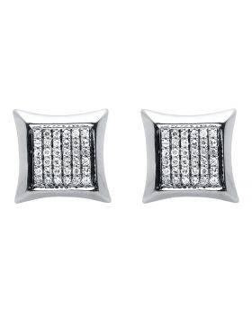 10K White Gold Diamond Kite Earrings (0.35ct)