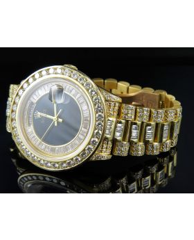 Rolex President 18k Yellow Gold Day-Date President with Diamond Bezel and Band (19.5 ct)