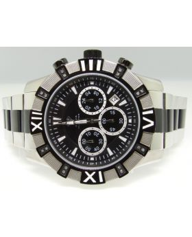 Aqua Master Black/Silver Diamond Watch (W#333)