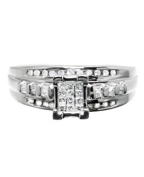 Princess Diamond Engagement Ring in Sterling Silver (0.36ct)