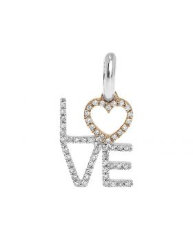14k Gold Heart Love Fashion Pendant (0.20ct)
