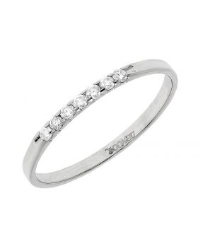 Ladies Shared Prong Band in White Gold (0.10 ct)