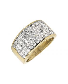 Men's 10K Yellow Gold Wide Diamond Pinky Ring (2.50ct.)