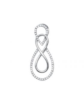 Ladies White Gold Interlocking Infinity Diamond Pendant (0.10ct)