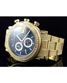 Gold PVD YA101334 Diamond Gucci Watch 10 Ct