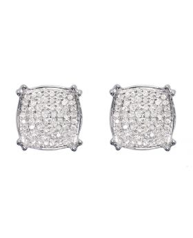 Pave Diamond Studs in White Gold (0.050 ct)