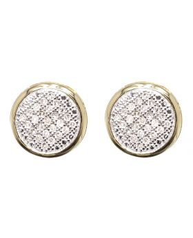 Round Bezel Diamond Earrings (0.33 ct)