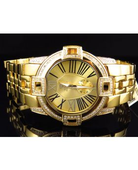 Aqua Master 43mm W#349 Gold Link Diamond Watch 1.75 ct