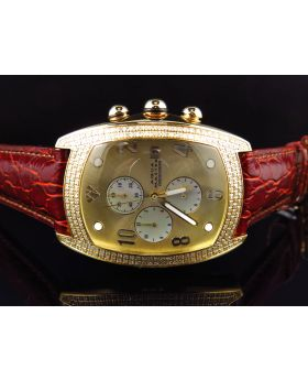 Aqua Master Yellow Gold W#42 Bubble Diamond Watch (2.5 Ct)