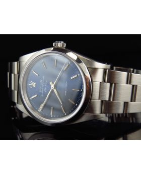 Rolex Air King Oyster Stainless Steel with Blue Dial Watch