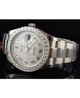 Rolex Datejust II 116300 Watch w/ Custom Set Diamonds (7 ct)