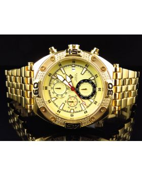 Aqua Master Yellow Gold W#351 Diamond Watch (.25 Ct)