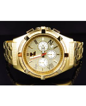 Aqua Master Yellow Gold W#348 Diamond Watch (.25 Ct)