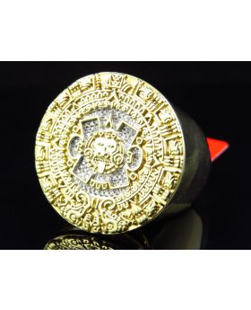 Men's Mayan Calendar Diamond Ring (.25 ct)