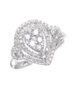 Pear Shape Halo Engagement Ring (1.0 ct)