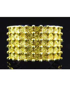 Mens 17 MM Fanook Style Diamond Band Finished In Yellow (0.25 Ct)
