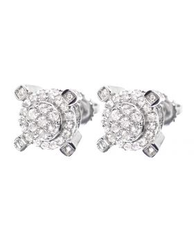3D Cara Earrings in White Gold (0.75 ct)