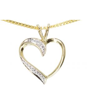Heart Pendant in Yellow Gold (0.01)