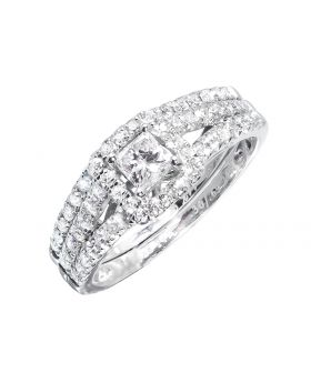 Princess Solitaire Bridal in White (1.0 ct)