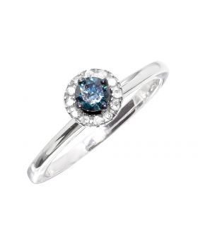 Blue Diamond Solitaire Ring (0.25 ct)