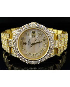 Rolex 18K Yellow Gold Day-Date President 18038 Diamond Watch (23.75)