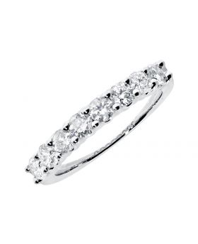Shared Prong 3mm Diamond Wedding Band in 14k (1.0ct)