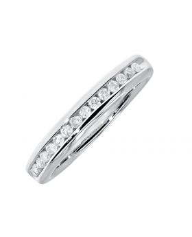 Channel Set 3.5mm Diamond Wedding Band Ring in 14k (0.25ct)