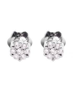 3mm Cluster Studs in 14k White Gold (0.10 ct)